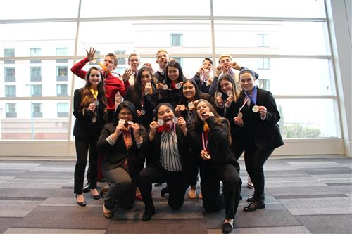 BHS DECA Area Competition Group Picture