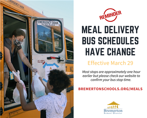 Meal delivery bus schedules have changed effective march 29
