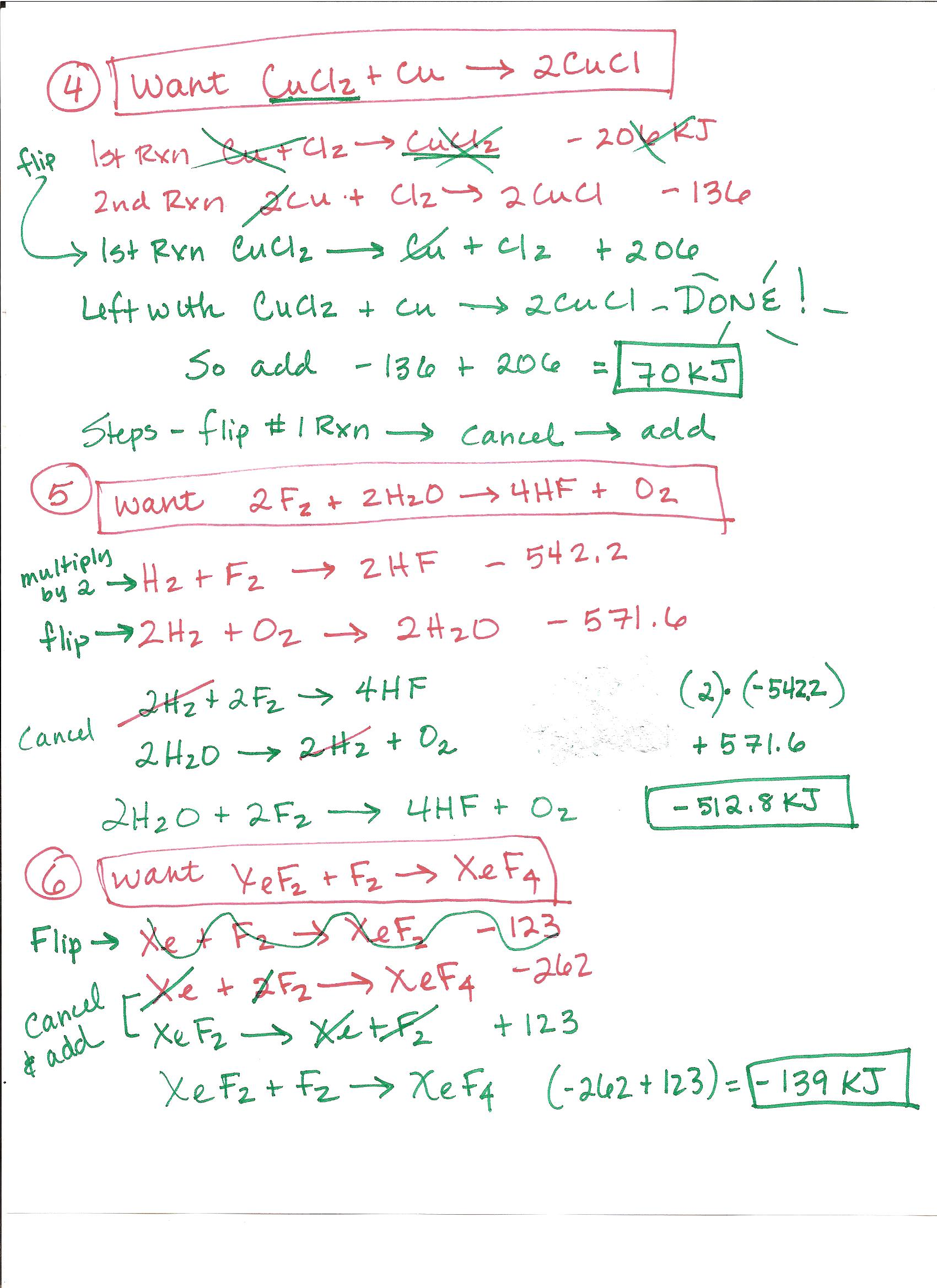 Hess Law Worksheet solutions: page 1 page 2 page 3 page 4