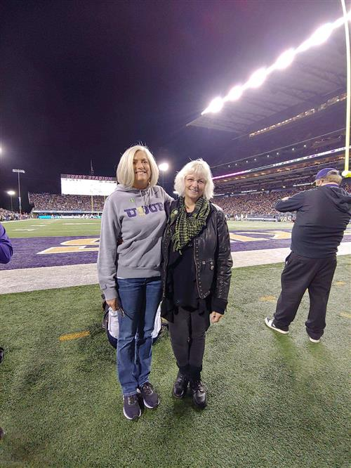 Mrs. North and Ms. Lippy at UW game