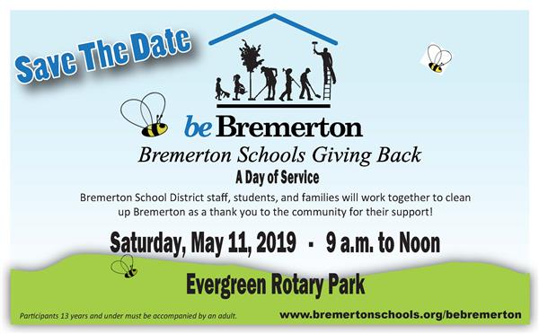 Join us!  be Bremerton:  A day of Service is May 11, 2019
