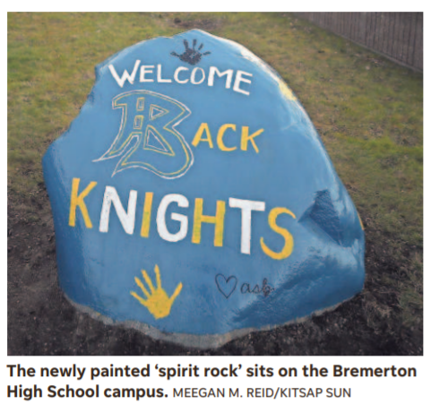 Kitsap Sun / Bremerton High School's 'spirit rock' promotes unity, school spirit