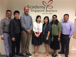 Mr. Craig Davis with Singapore Academy Teachers