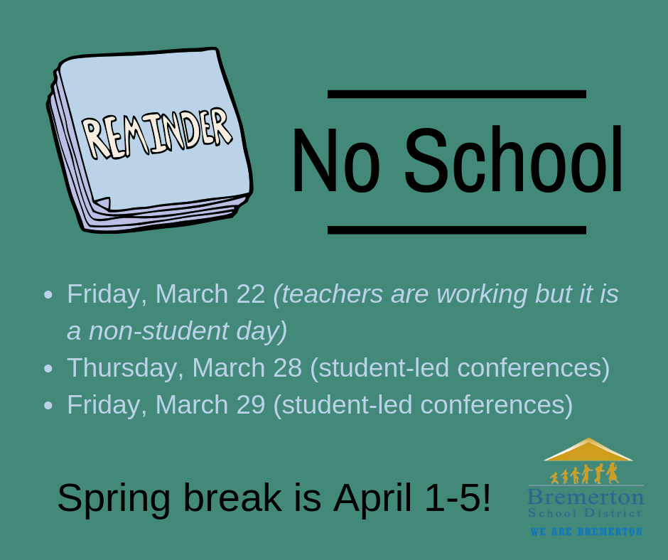 Upcoming Non-Student Days!