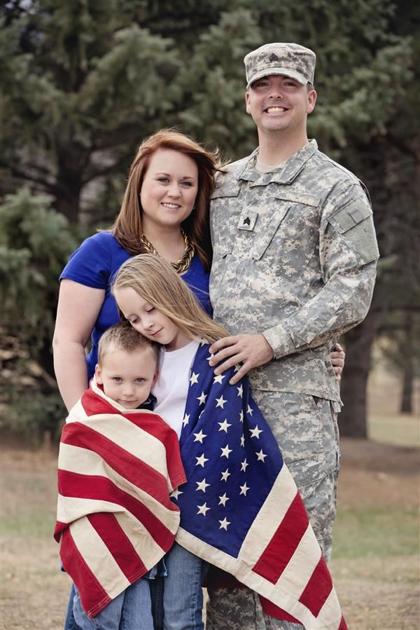 Image of a military family