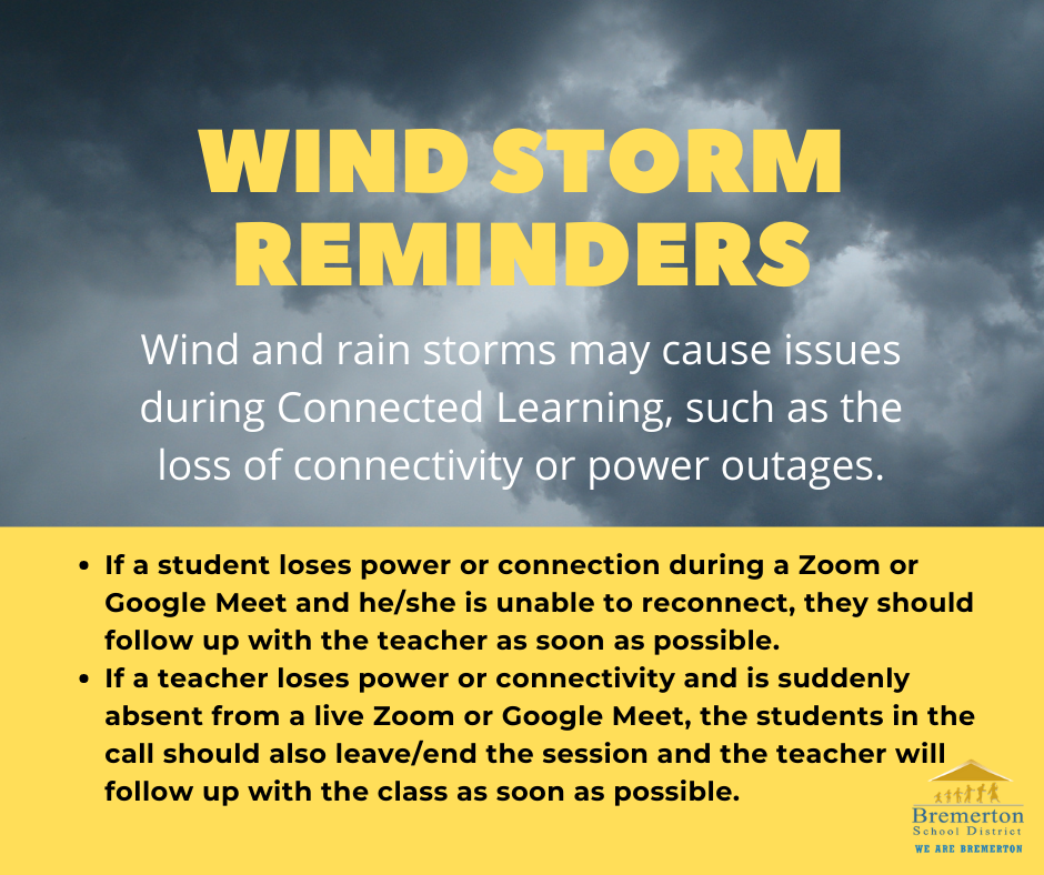 Wind storm reminders