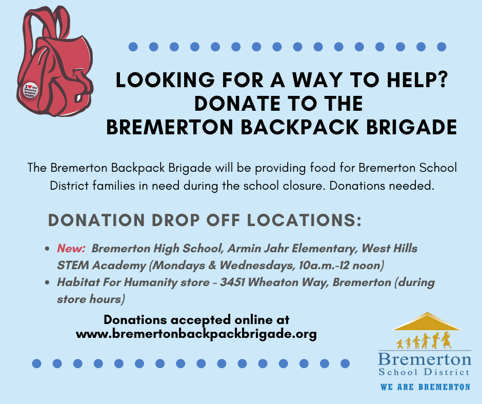 Backpack Brigade donations